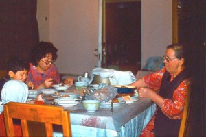 28. Евгения Степановна, дочь Алия и внук Даурен