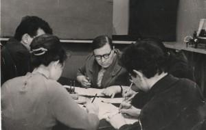 Евгения Степановна на экзамене