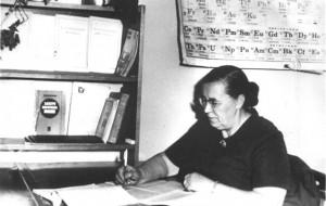 Евгения Степановна на кафедре